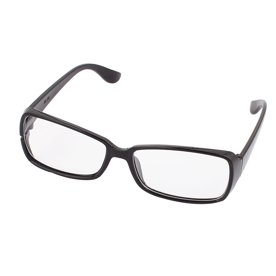 Clear Rectangle Lens Full Rim Eyewear Plain Plano Glasses Spectacles Black
