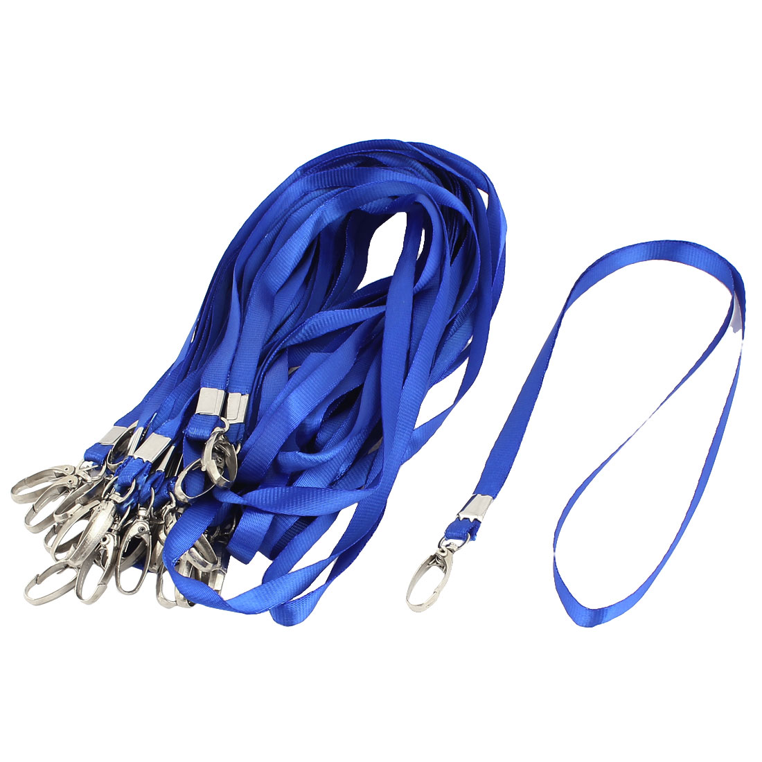 Metal Swivel Clip Office ID Name Card Badge Holder Neck Strap Lanyard Blue 36Pcs