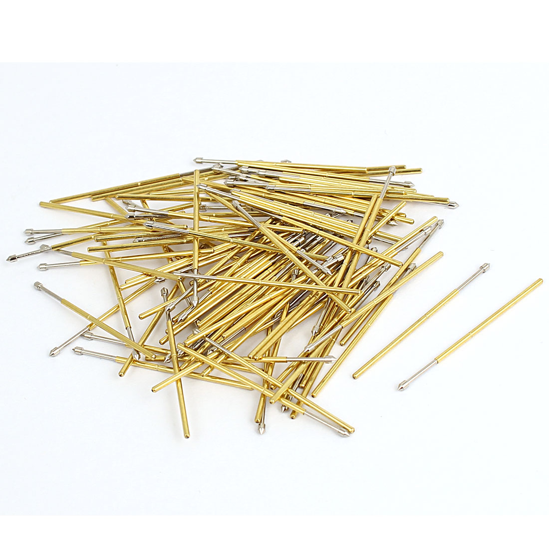 PC75E 33mm Length 90 Degree Convex Tip Spring Loaded Test Probe Pin 100Pcs