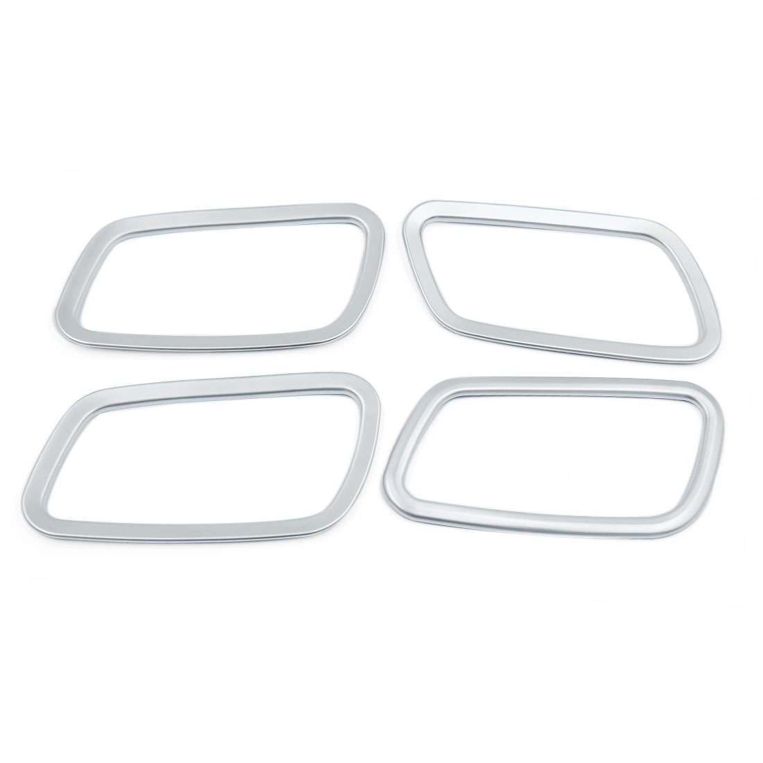 4 Pcs Adhesive Chrome Inner Door Handle Bowl Frame Cover Trim for Honda CRV CR-V 2015