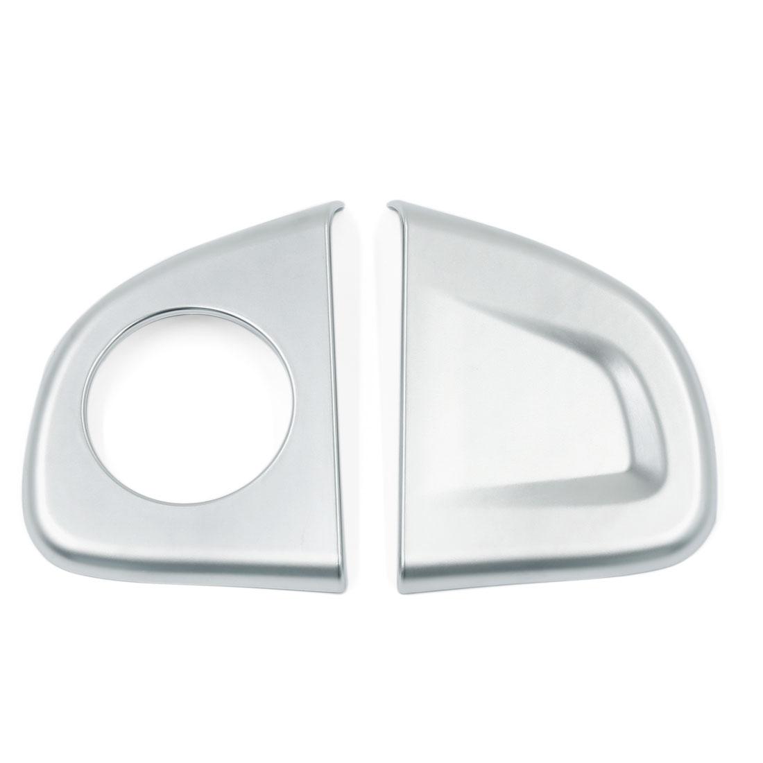 2 Pcs ABS Chrome Adhesive Car Steering Wheel Cover Trim for Honda CRV CR-V 2012-2015