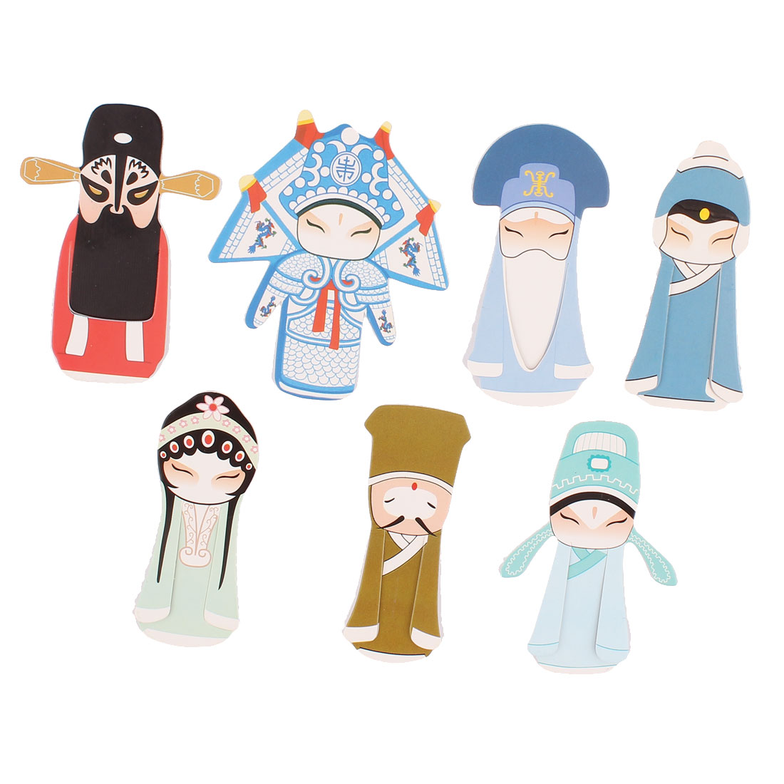Office School Chinese Peking Opera Classical Bookmark Book Clip Multicolor 7pcs