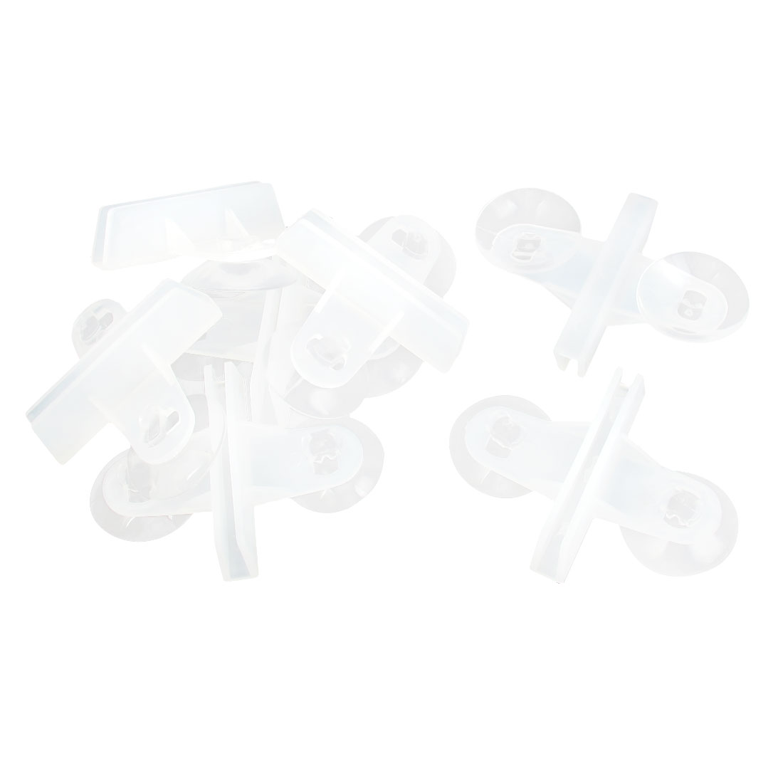 7pcs White Plastic Dual Suction Cup Divider Sheet Glass Clip Support Holder for Aquarium