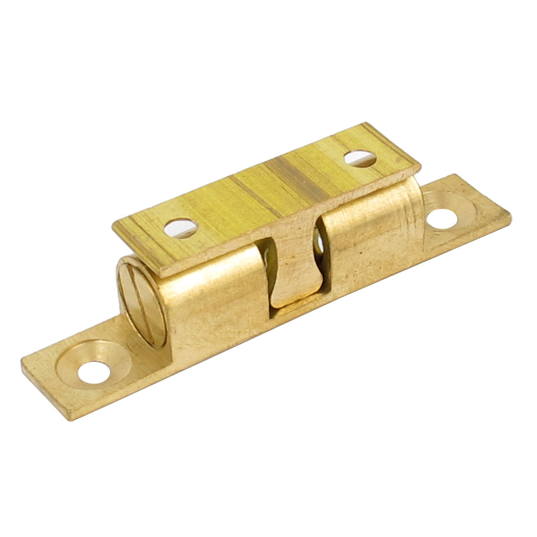 Cupboard Cabinet Closet Door Brass Double Ball Catch Roller Latch 60mm Length