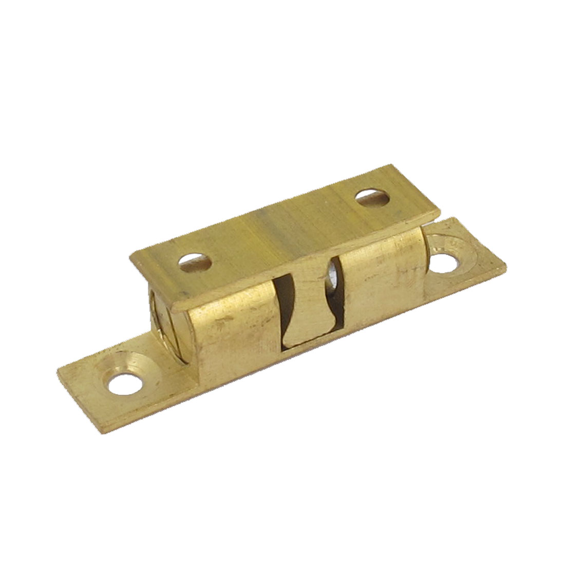 Cupboard Cabinet Closet Drawer Brass Double Ball Catch Roller Latch 47mm Length