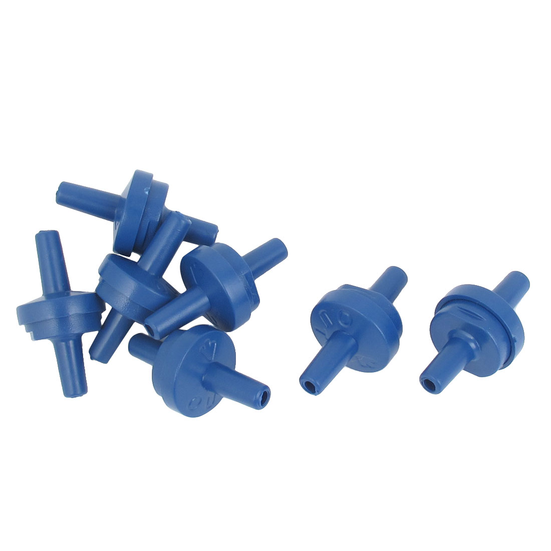 Aquarium Fish Tank Plastic Air Pump Non-Return Outlet One Way Check Valves Blue 7pcs