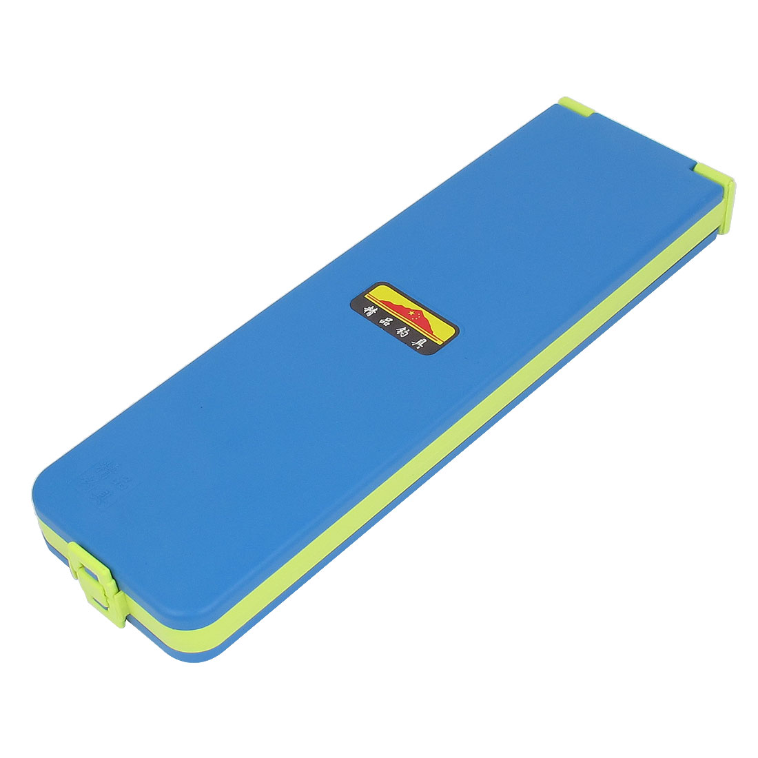 Blue Yellow Plastic Case Double Layers 4 Compartments Fishing Branching Line Box Holder