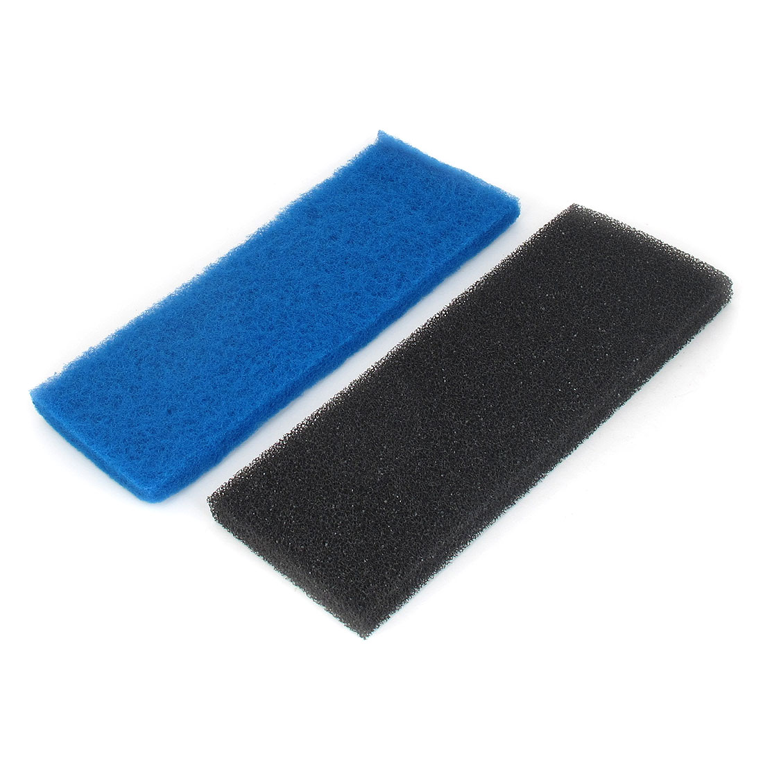 Aquarium Fish Tank Rectangular Biochemical Filter Sponge Pad Black Blue 32cmx12cmx2cm 2pcs