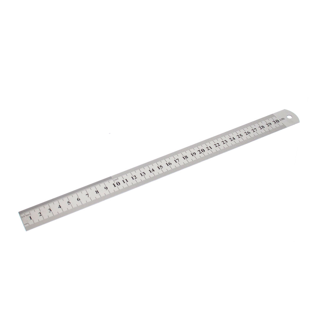 30cm 12 Inches Scale Range Metal Doual Sides Measure Measuring Straight Ruler for Woodworker