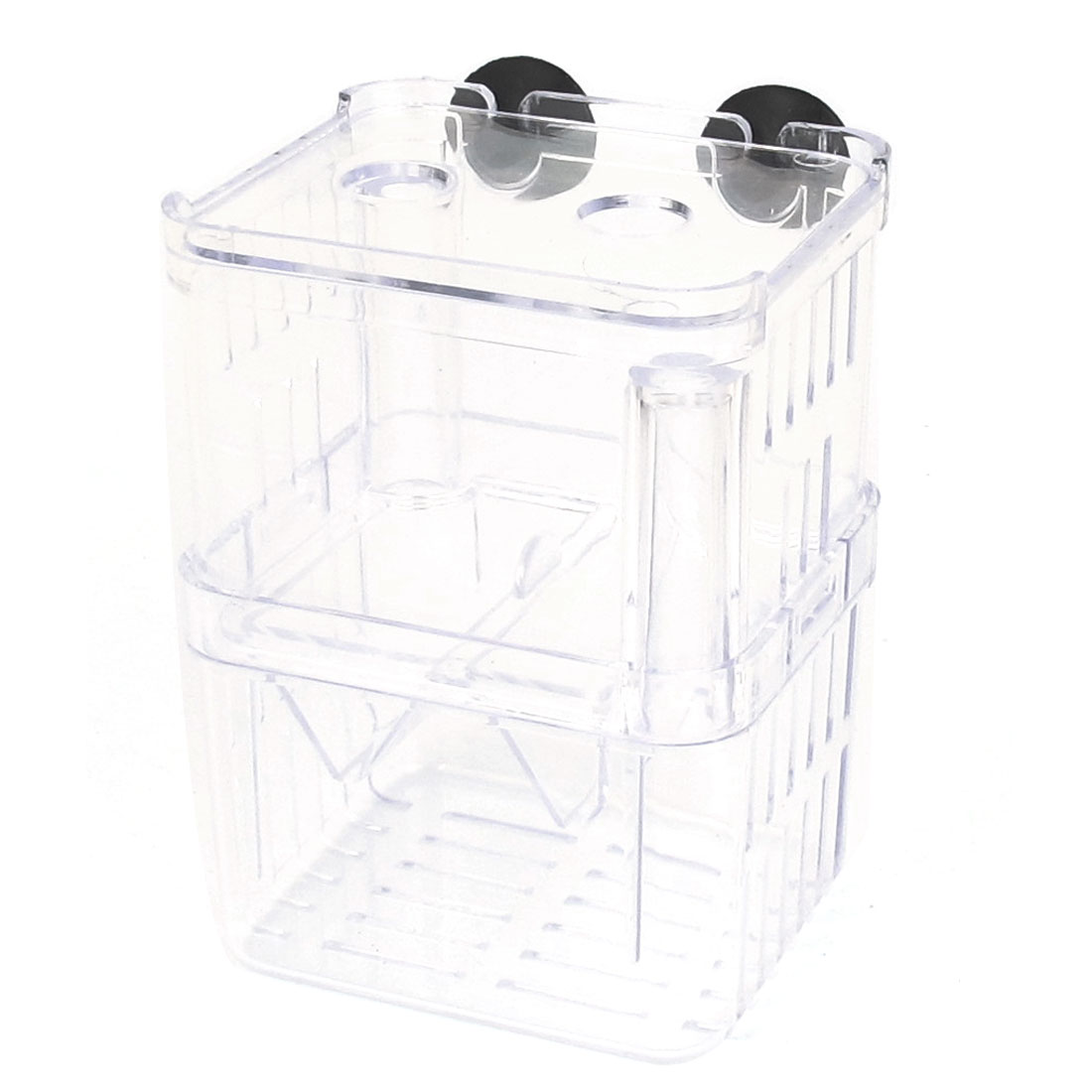 Clear Plastic Retangle Shape Isolation Self Floating Double-deck Divider for Fish Tank Aquarium