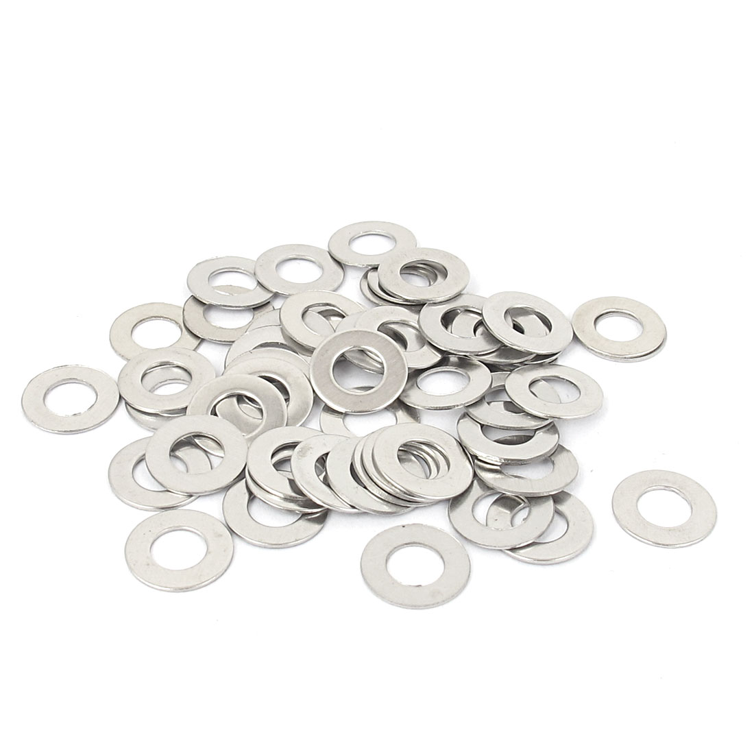 50pcs M6x12mmx0.7mm Stainless Steel Flat Washer Gasket Fastener Rings Silver Tone