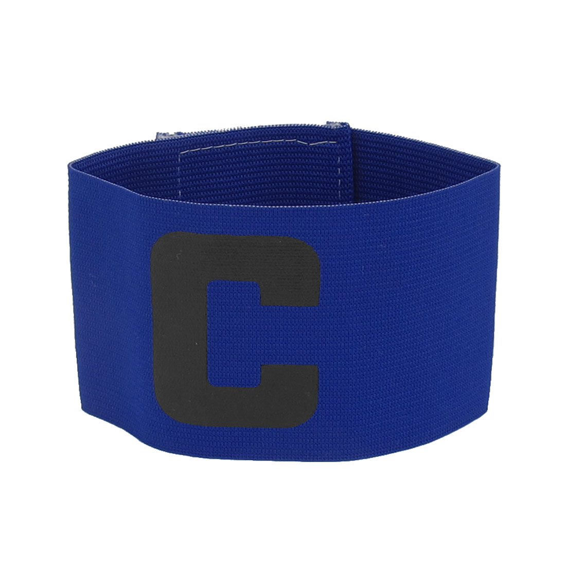 Letter C Printed Elastic Football Tension Soccer Sports Captain Armband Badge Blue