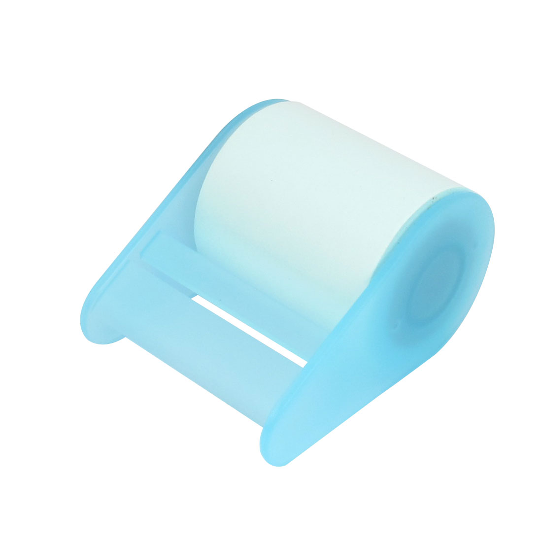 Office Plastic Base Roll Paper Memo Pad Sticker Marker Sticky Note Craft Post Blue