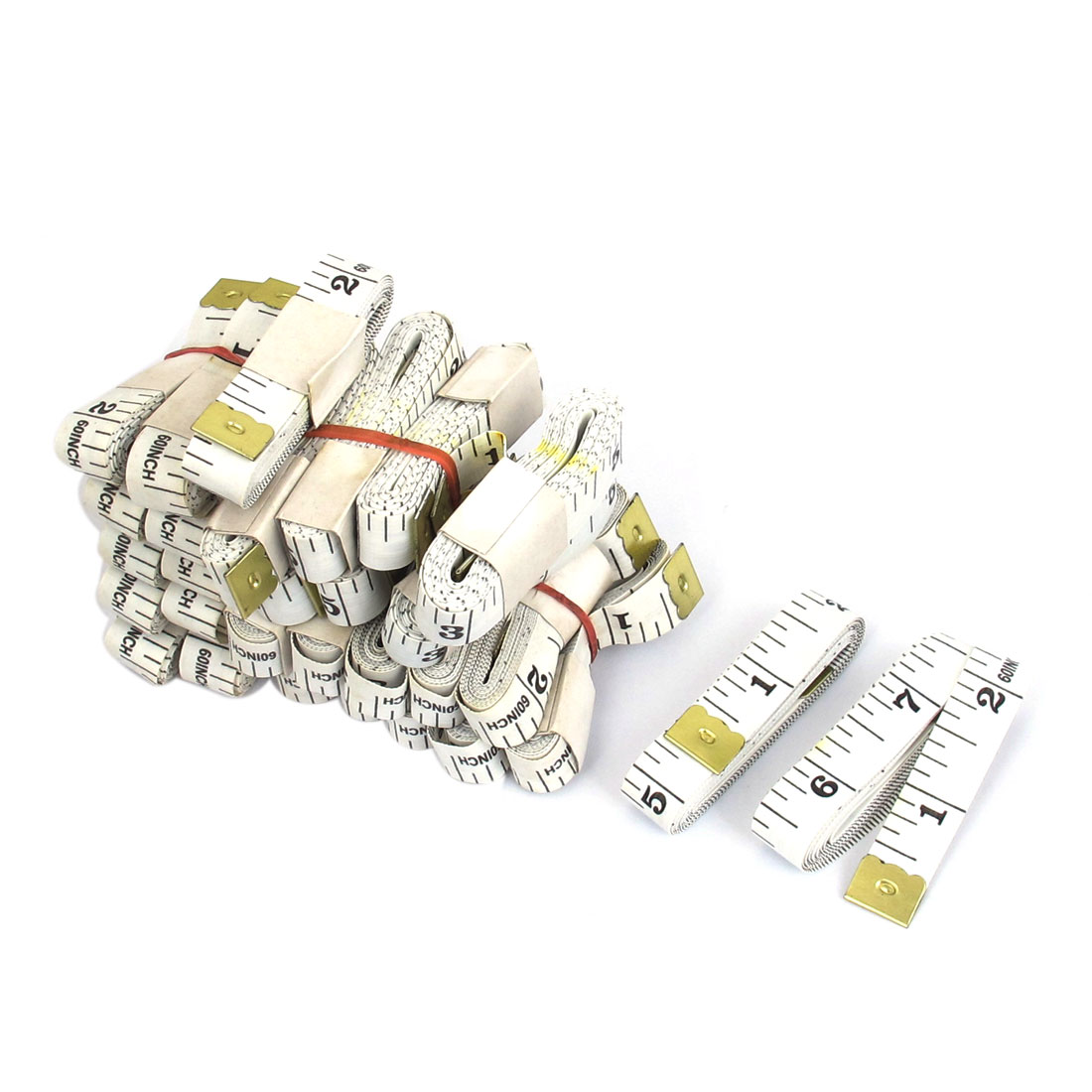 30pcs 150cm 60 Inch White Flexible Double Scale Tailor Sewing Cloth Ruler Tape Measure