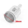 24mm Cutting Dia Diamond Coated Glass Tile Marble Drill Bit Hole Saw Silver Tone