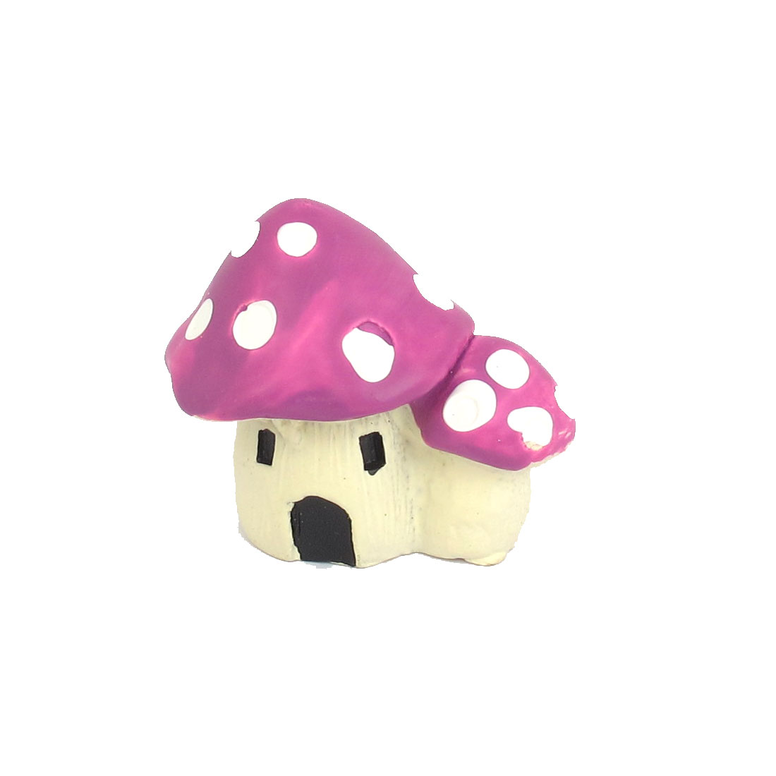 "1.2"" Height White Purple Ceramic Artificial Mushroom Aquarium Ornament for Fish Tank Aquarium"