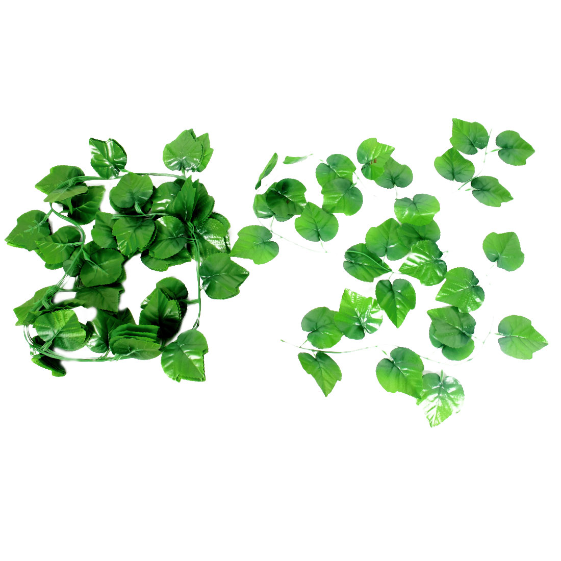 5 Pcs 1.91M Length Green Artificial Plastic Simulated Leaf Plant Vine Foliage Hanging Decor for Home Wall Wedding Party