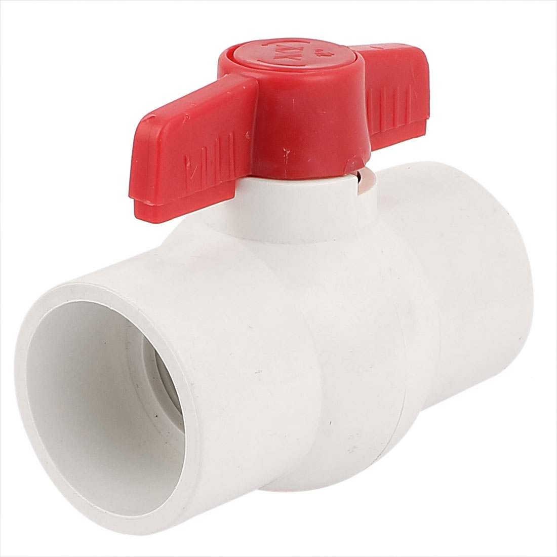 50MM Dia Slip Ends Water Control PVC Ball Valve White Red