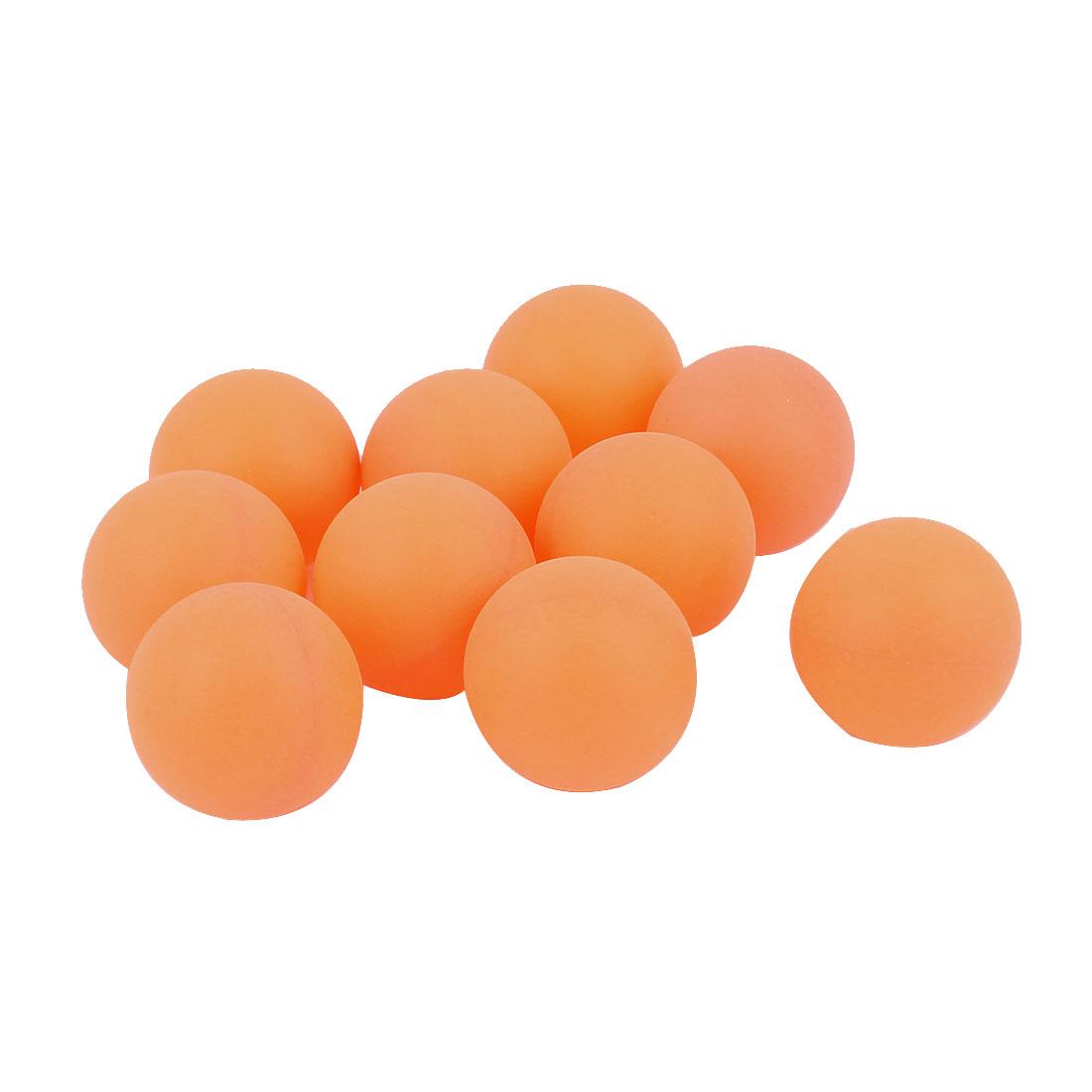 10Pcs Recreational Leisure Table Tennis Ping Pong Balls Orange