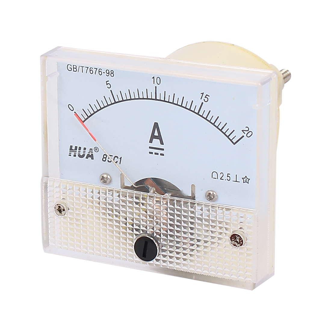 85C1 Pointer Needle 0-20A Current Tester Panel Analog Ammeter 56mm x 64mm