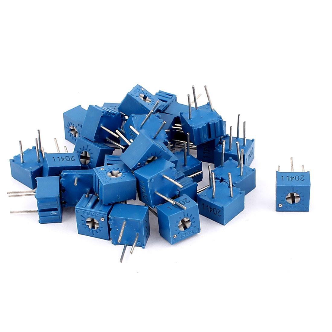30Pcs 500V 1K Ohm Single Turn Square Cermet Trimmer Potentiometer