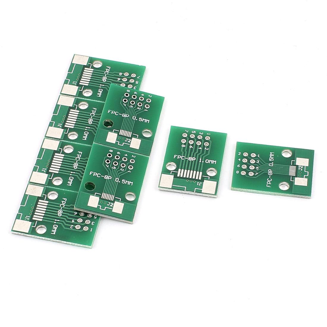 "8Pcs 19 x 26mm/0.7"" x 1"" FPC 8Pins Adapter PCB Converter Board"