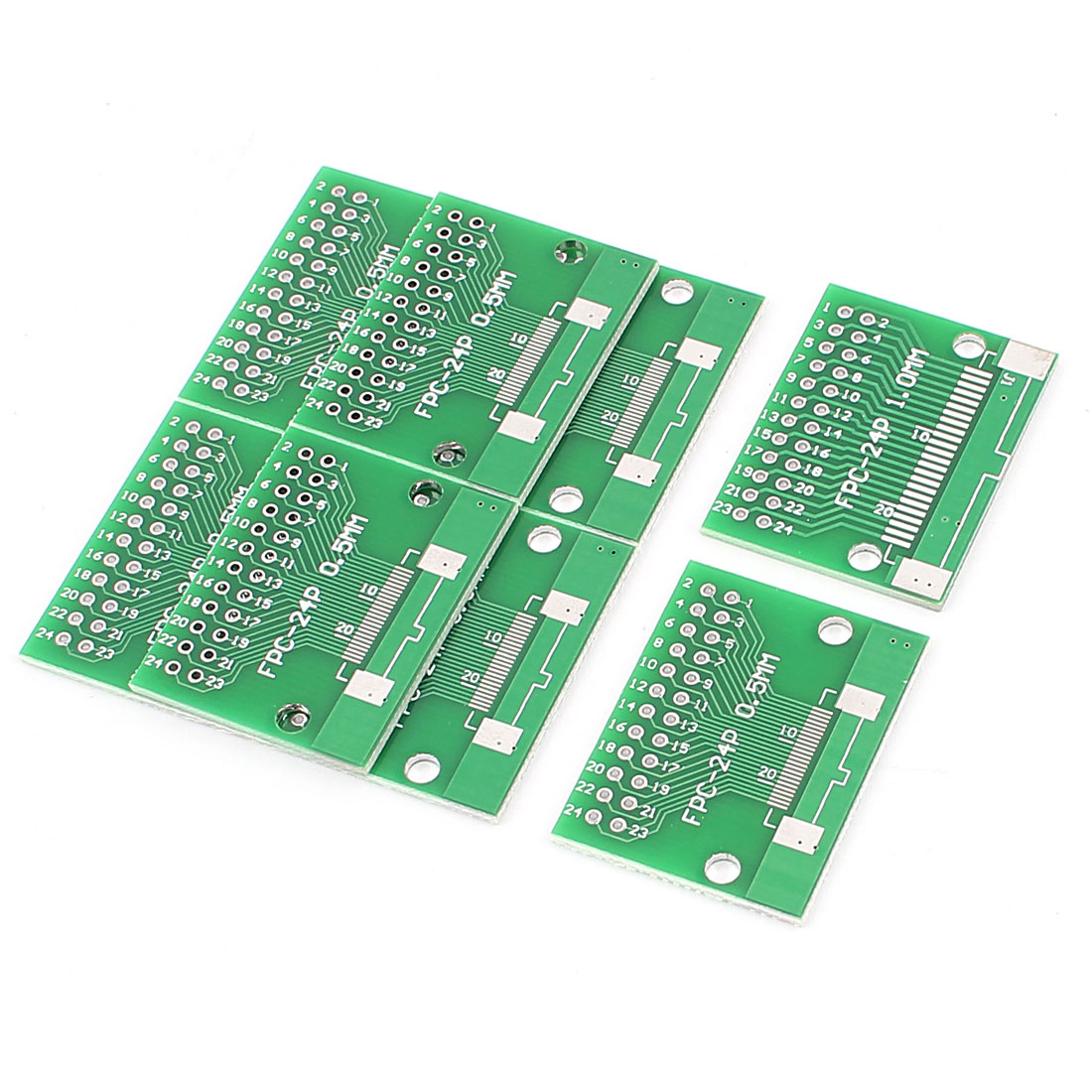 """8Pcs 34 x 26mm/1.3"""" x 1"""" 24Pins Adapter PCB Converter Board"""