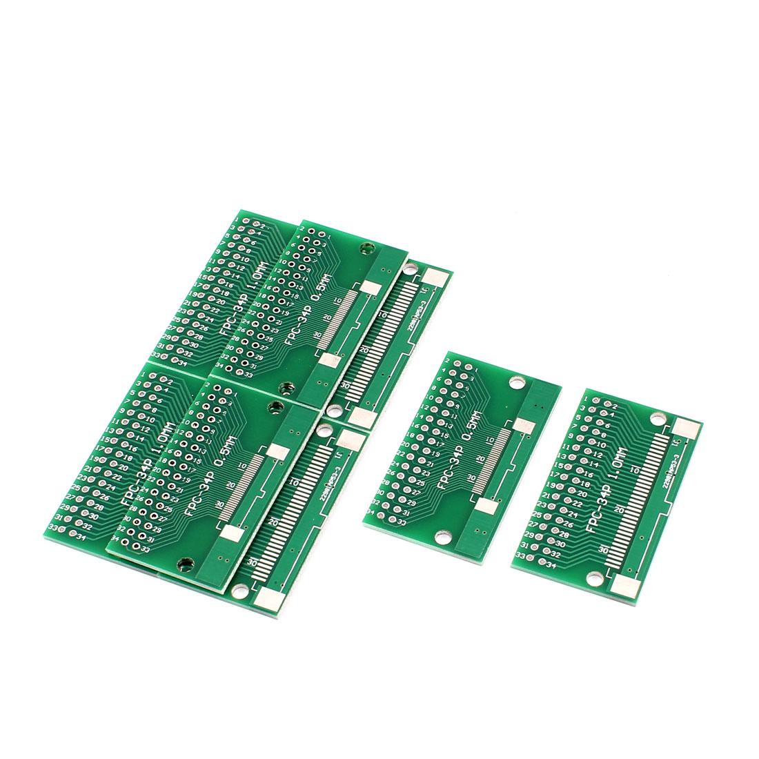 8Pcs 46 x 26mm FPC 34Pins Adapter PCB Converter Board