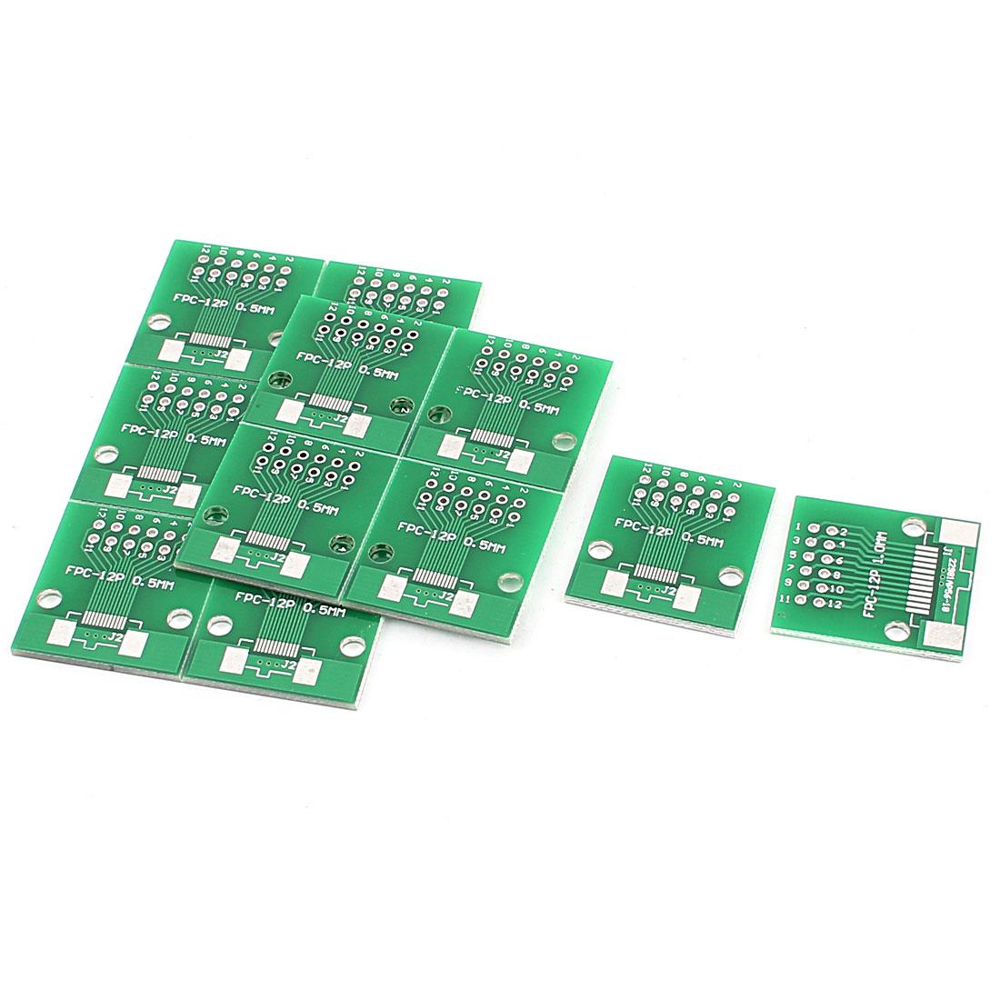 "12Pcs 24 x 26mm/0.9"" x 1"" FPC 12Pins Adapter PCB Converter Board"