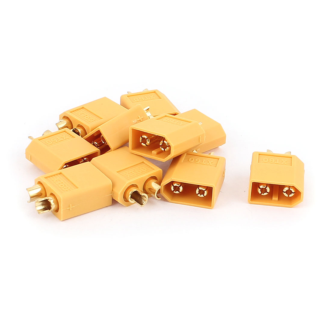 10Pcs Female XT60 Connector for RC Airplane Yellow