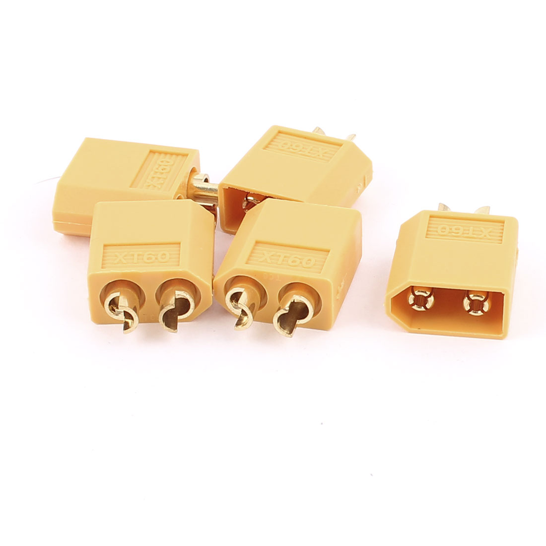 15Pcs Female XT60 Connector for RC Airplane Yellow
