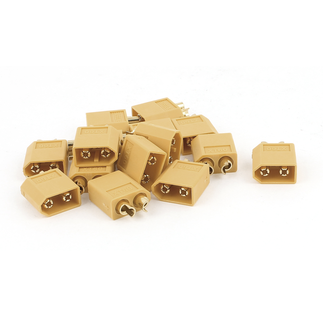 15Pcs Type Female XT60 Connector for RC Airplane Yellow