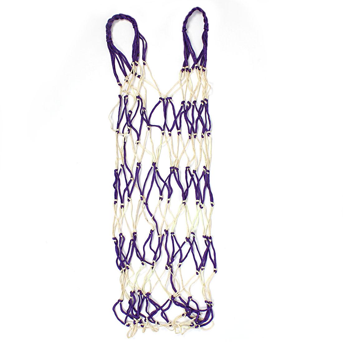 Nylon Knot Net Bag Ball Carry Mesh Basketball Football Soccer Holder Yellow Purple Red