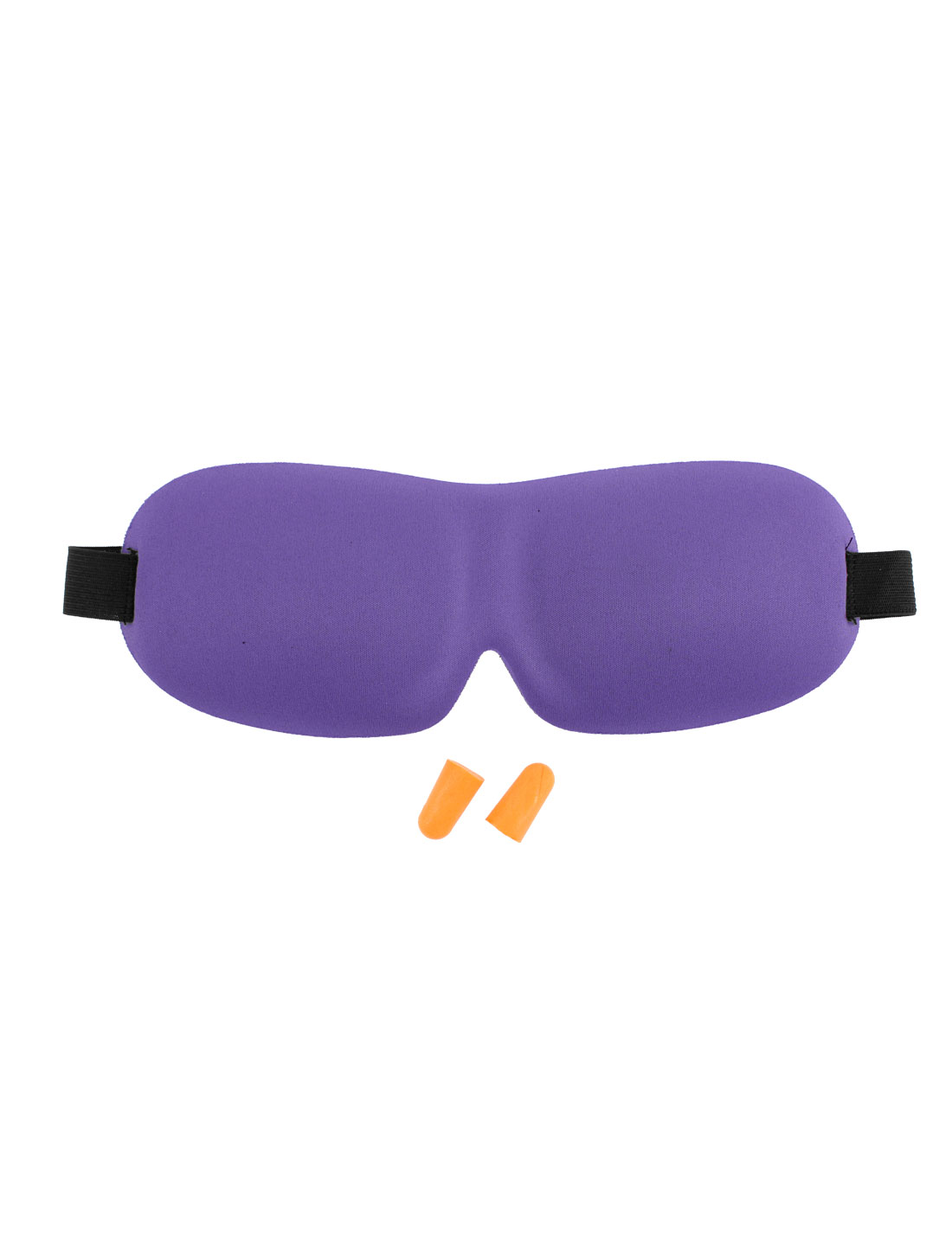 Travel Sleep Rest 3D Mask Eye Shade Sleeping Sponge Cover Blindfold Purple
