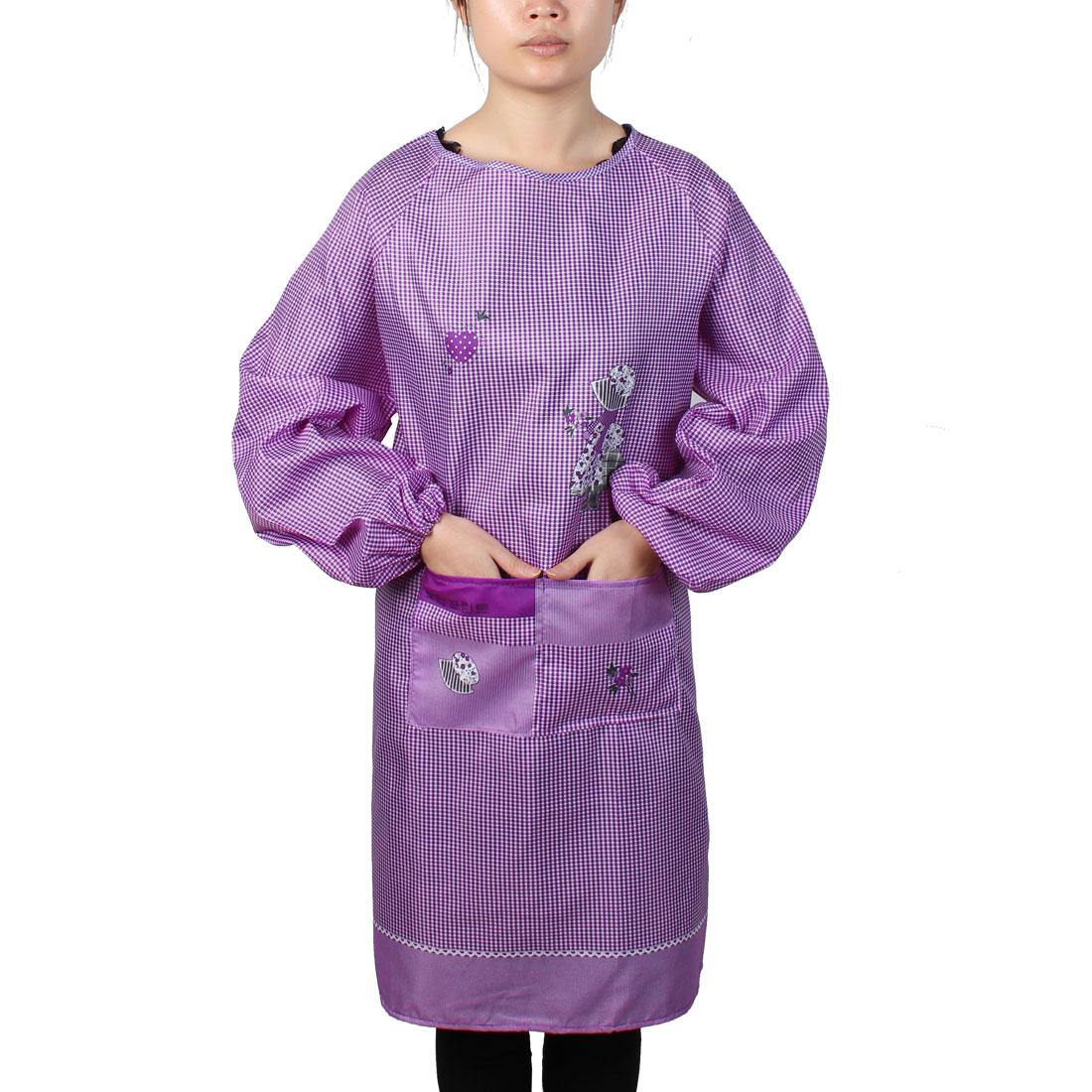 Home Kitchen Restaurant Cooking Aprons Purple for Women