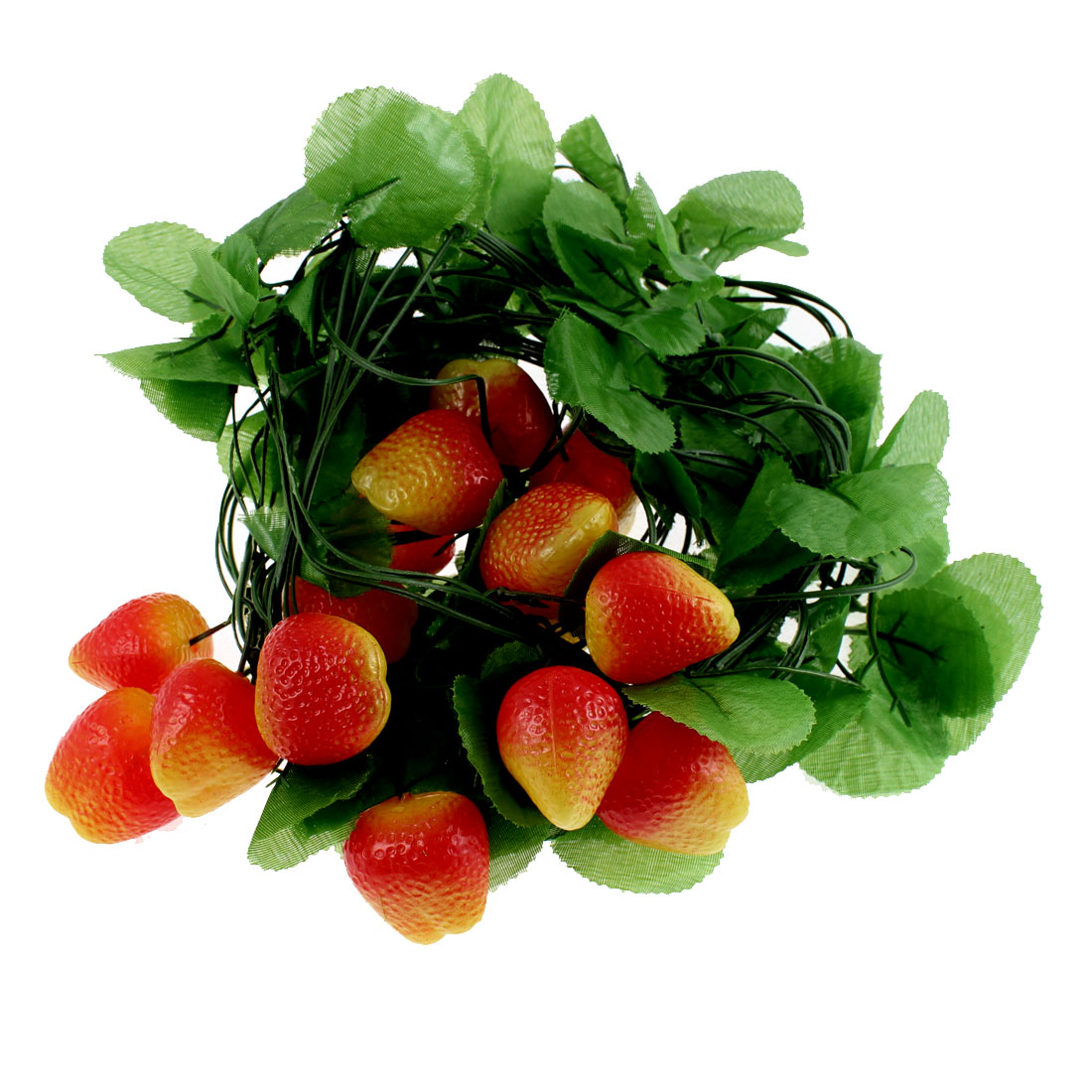 Artificial Hanging Fruit Foliage Ivy Strawberry Vine 5 Pcs