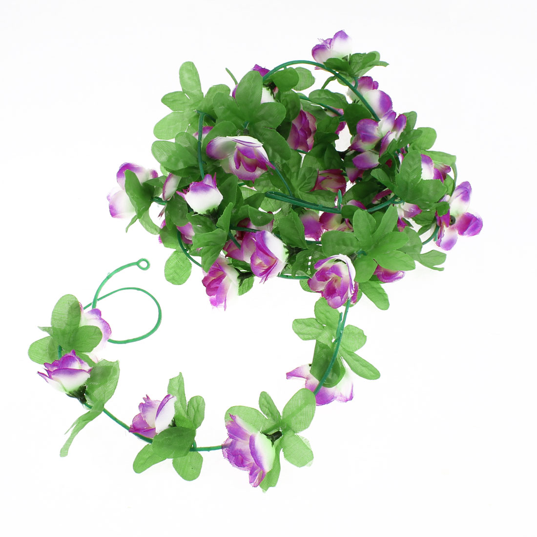 Artificial Fake Purple Rose Flower Ivy Vine Hanging Garland Wedding Decor