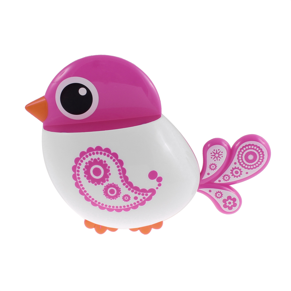 Bathroom Bird Design Wall Suction Stuff Toothbrush Holder Organizer Fuschia