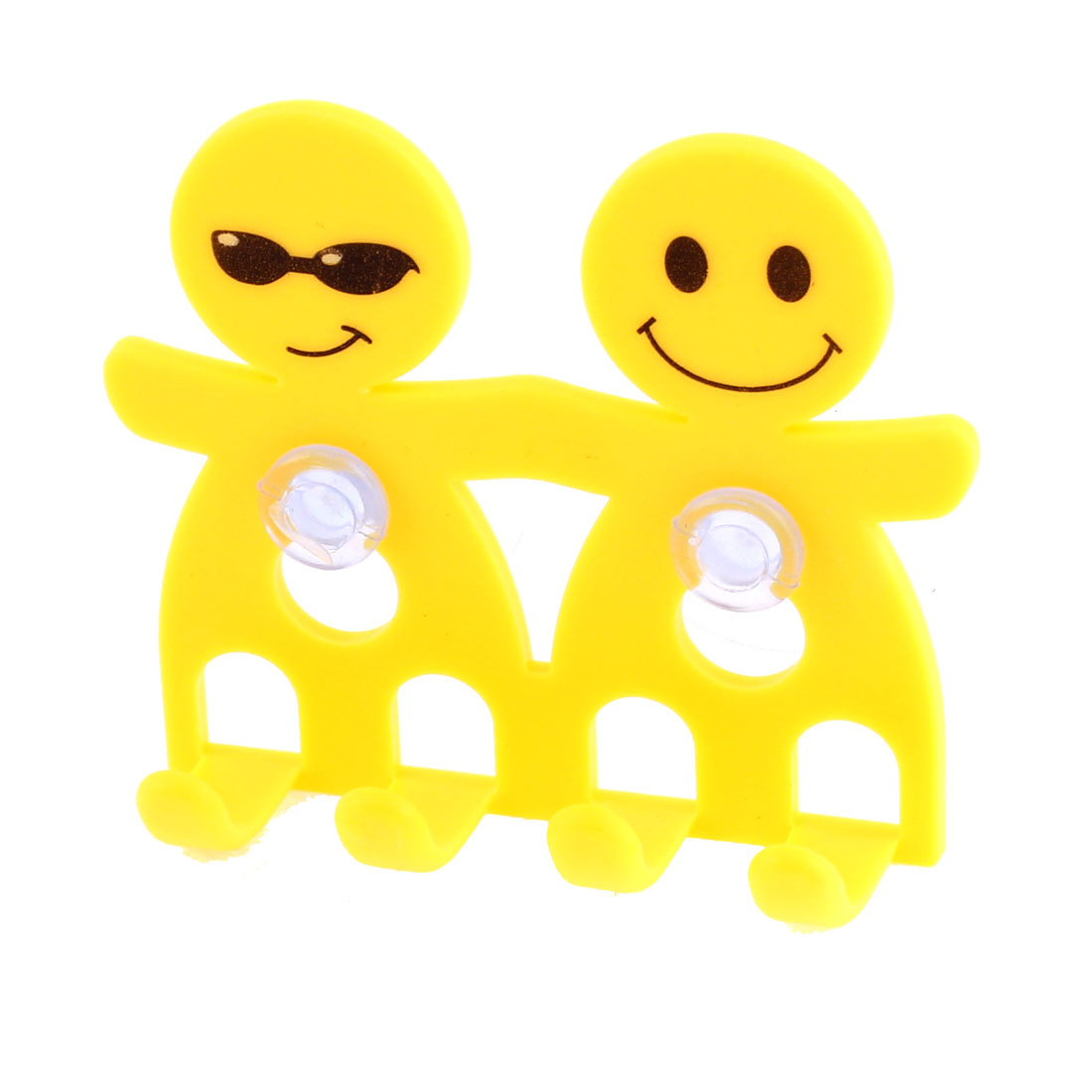 Home Suction Cup Plastic Toothbrush Toothpaste Holder Yellow