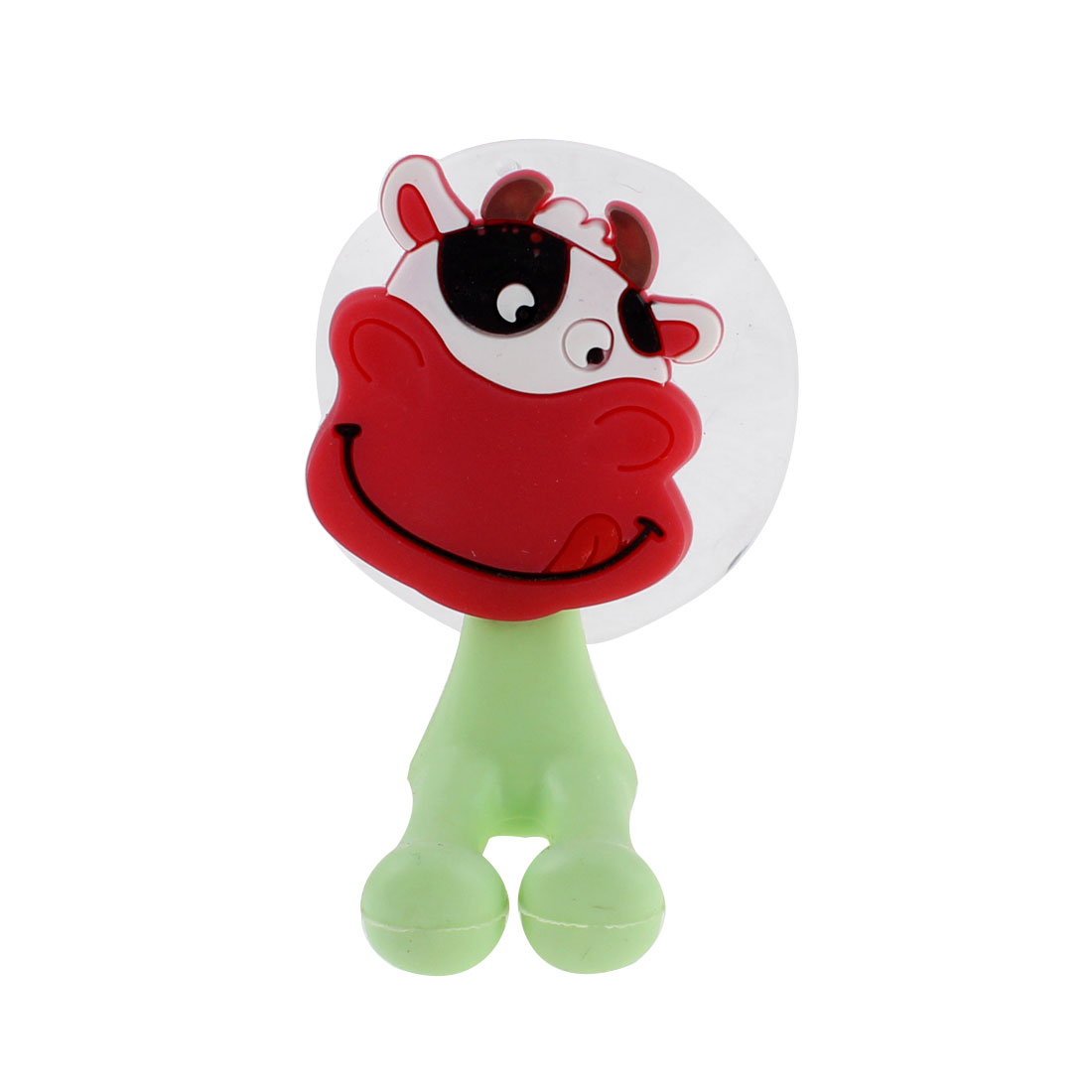 Household Silicone Suction Cup Cow Style Toothbrush Holder Hook Hanger