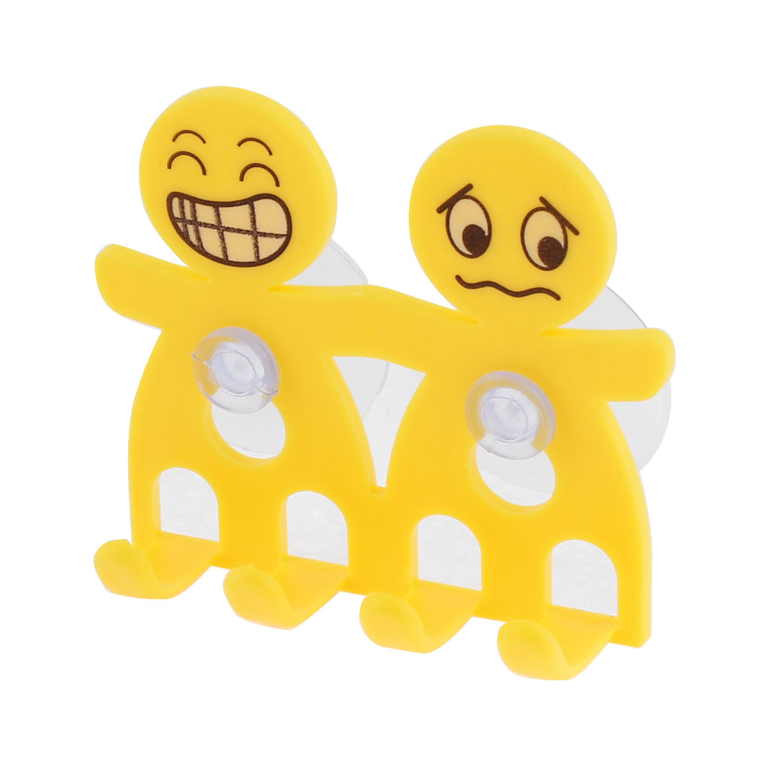 Suction Cup Toothbrush Toothpaste Holder Organizer Yellow