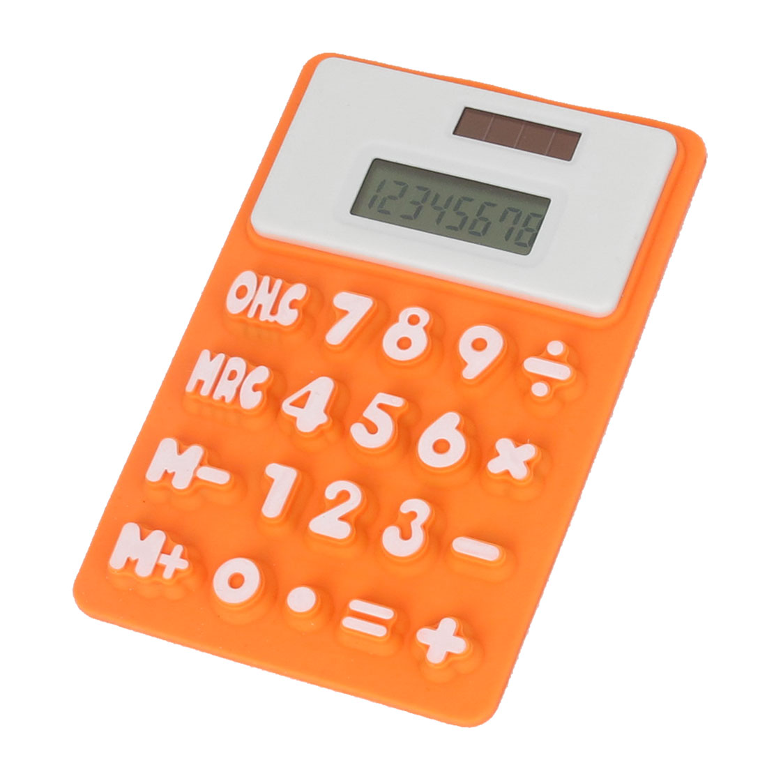 Home Office Fridge Magnetic Sticker Silicone Calculator Orange White