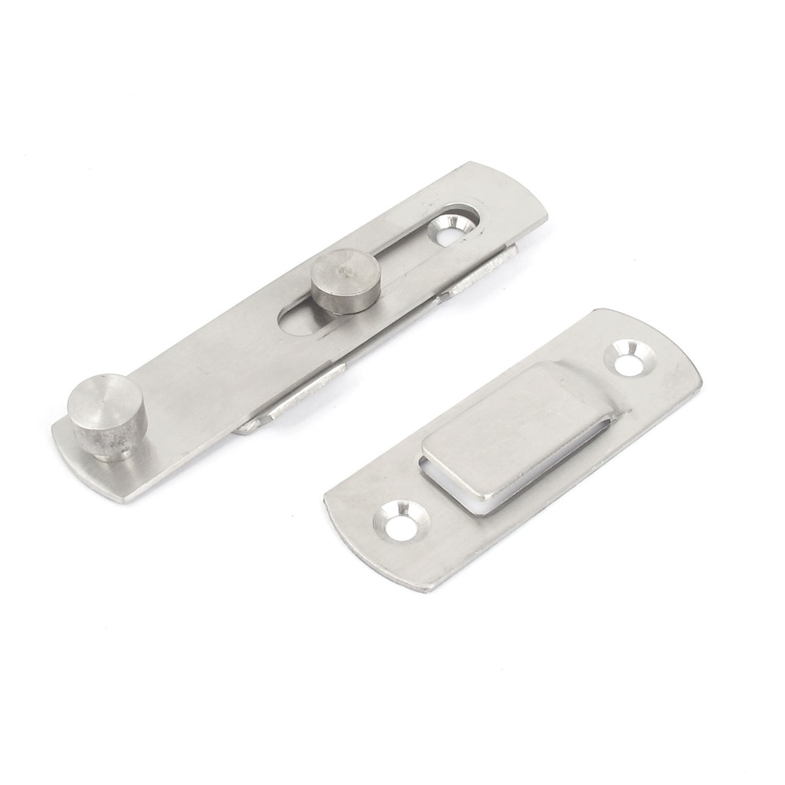 "Cupboard Drawer Screw Fixing Door Hasp Catch Clasp Silver Tone 4.6"" Long"