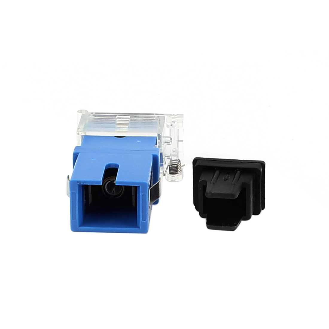 SM SC/APC Simplex Fibre Coupler Flange Optical Fiber Adapter w Anti-dust Cap Blue