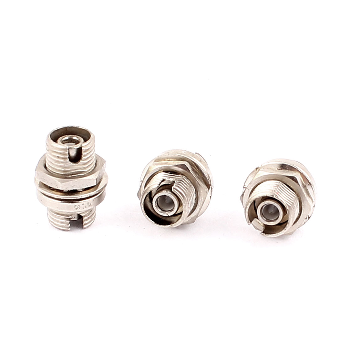 3 Pcs Small D type FC-FC Fibre Coupling Flange Connectors Optical Fiber Adapters