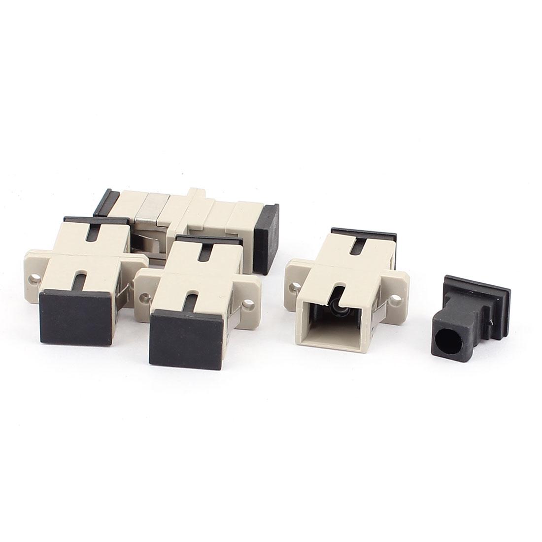 4 Pcs Single-mode SC-SC UPC Simplex Fibre Couplers Flange Adapters Optical Fiber Connectors