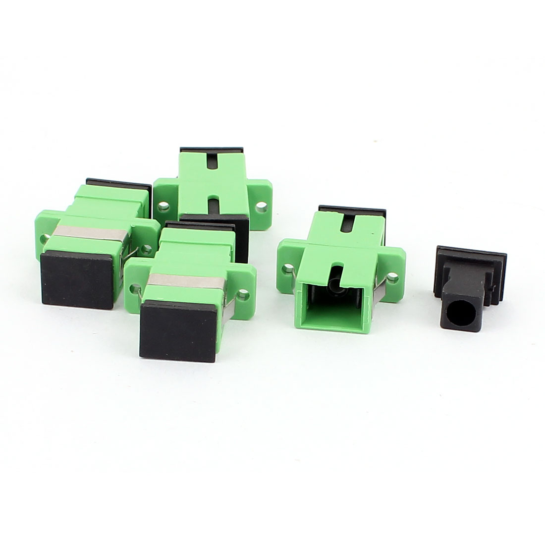 4 Pcs Single-mode SC-SC APC Simplex Fibre Couplers Flange Adapters Optical Fiber Connectors