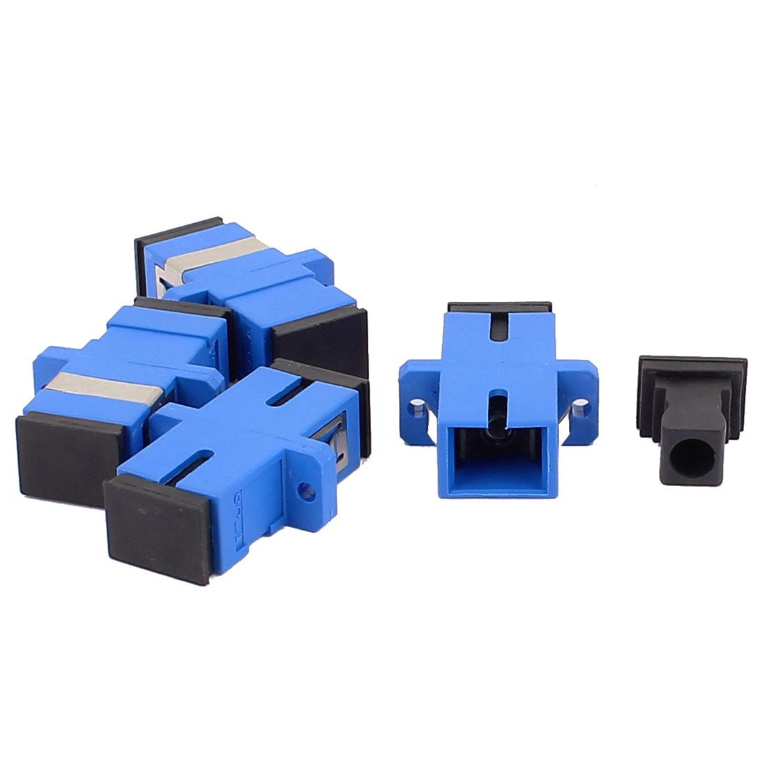 4 Pcs Multi-mode SC-SC UPC Simplex Fibre Couplers Flange Adapters Optical Fiber Connectors