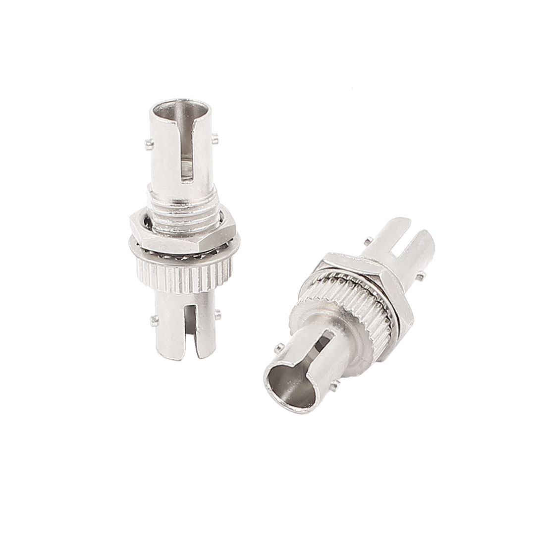 2 Pcs SM/MM ST Flange Connectors Fibre Couplers Optical Fiber Adapters