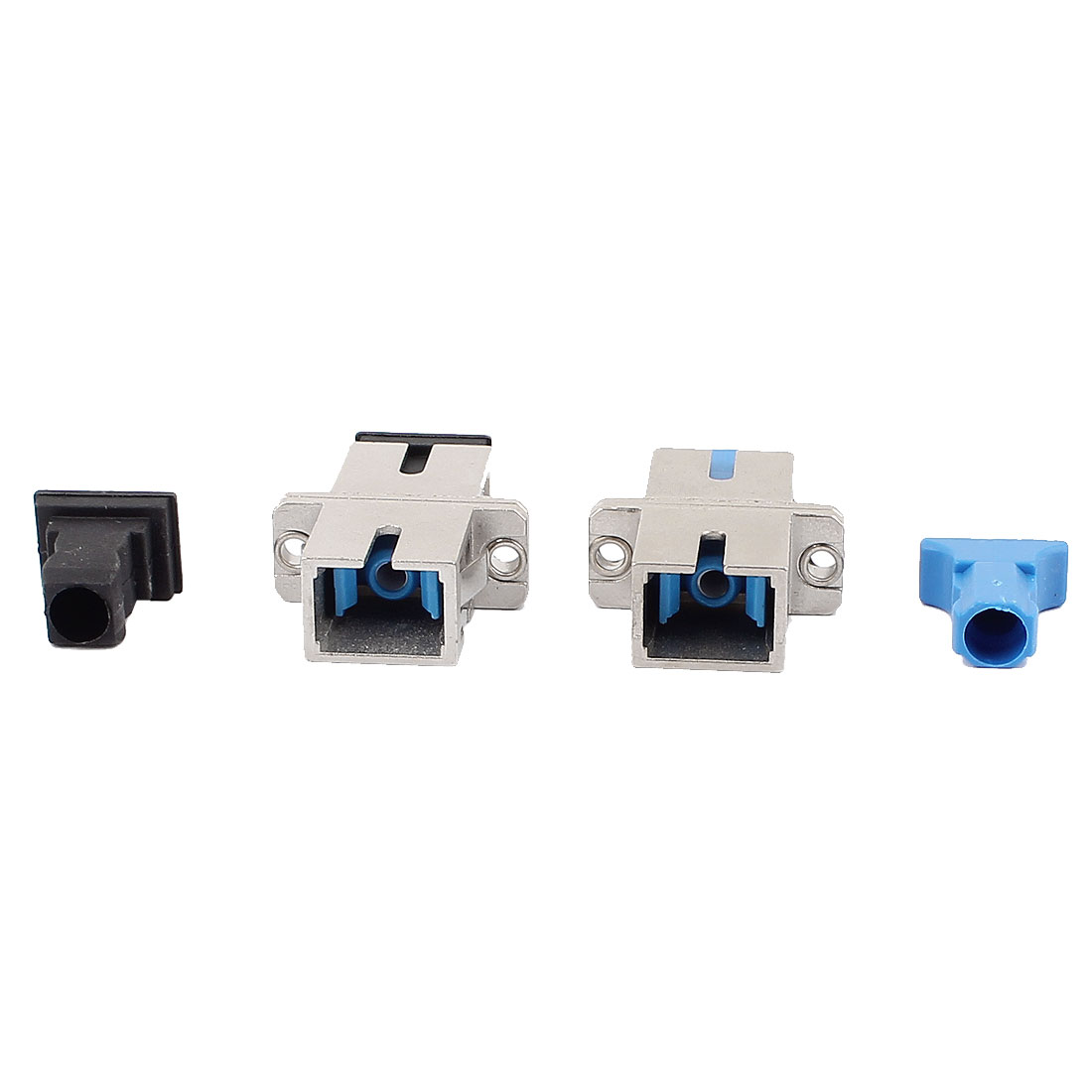 2 Pcs SM/MM SC/PC/APC Simplex Fibre Couplers Flange Adapters Optical Fiber Connectors